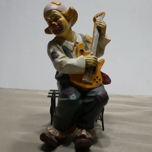 Other - CLOWN porcelain sitting on bench playing guitar